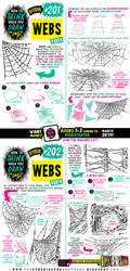 How to draw WEBS for #LEARNUARY! by STUDIOBLINKTWICE