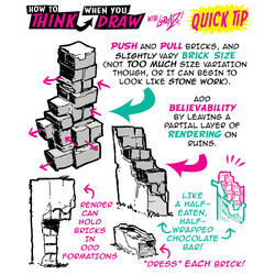 How to draw RANDOM BRICKS QUICK TIP #LEARNUARY! by STUDIOBLINKTWICE
