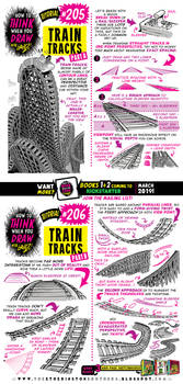 How to draw TRAIN TRACKS tutorial for #LEARNUARY! by STUDIOBLINKTWICE
