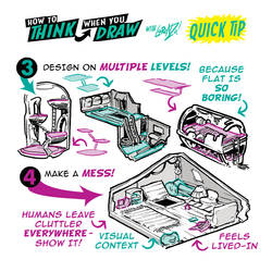 MORE How to draw INTERIORS QUICK TIPS! by EtheringtonBrothers
