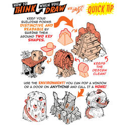How to draw BUILDINGS from KEY SHAPES QUICK TIP! by EtheringtonBrothers