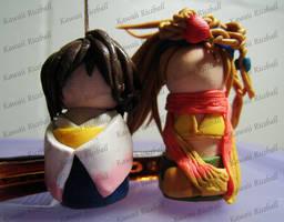 Cousins of Spira Kokeshi by me0w-kittyy