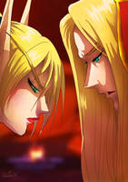Kethlam and Kael'thas by MistressAinley