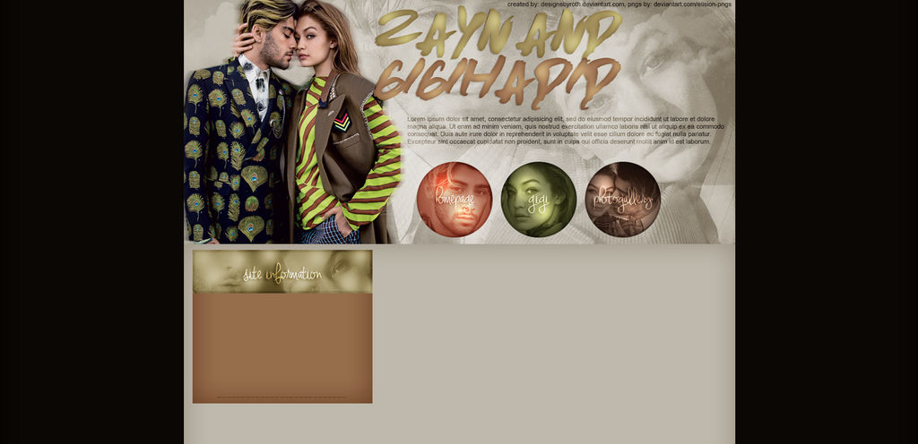 FREE DESIGN FT. GIGI HADID AND ZAYN by designsbyroth