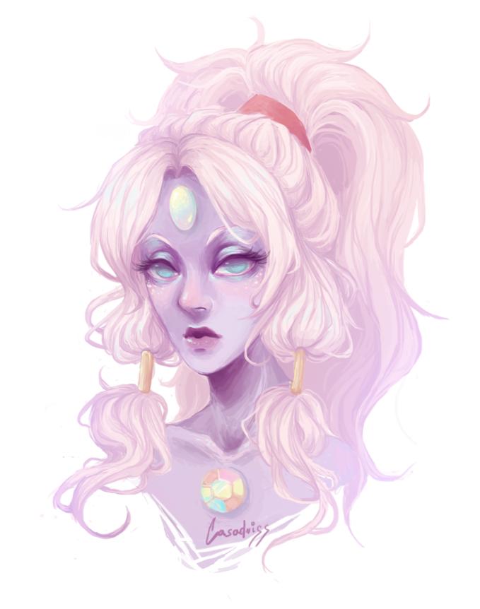 Lil Opal portrait I drew today :3c