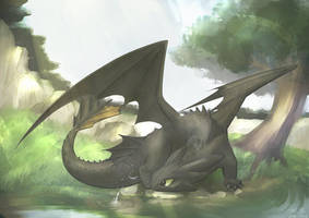 Toothless by uta-inu