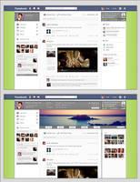 Facebook Redesign Simply Mockup by Metalbone1988