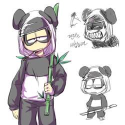 Osomatsu-san - Panda by cooga01