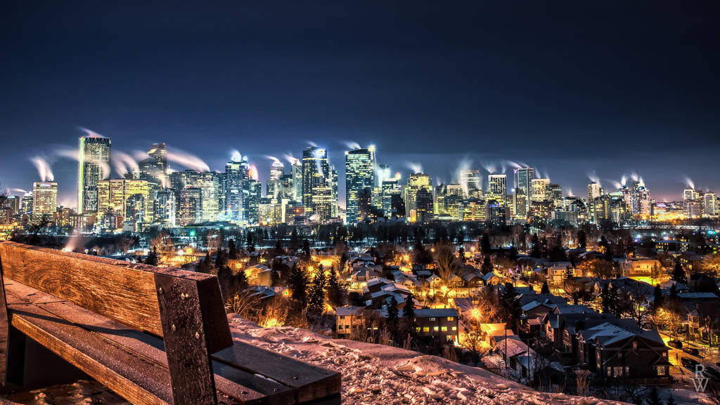 Calgary Winter Skyline - HDR by eibbor
