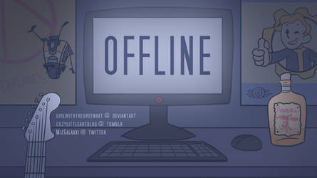 Commission - Twitch Offline Screen by GirlWithTheGreenHat