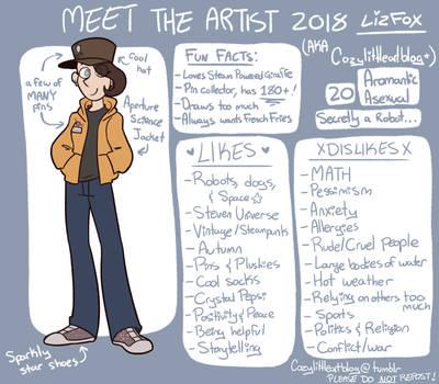 Meet The Artist 2018 by GirlWithTheGreenHat