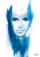 Cold Girl - Abstract WaterColor Artwork by Demorie-Art