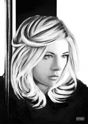Katheryn Winnick Portrait Art Sketch By Demorie by Demorie-Art