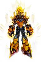 Kakarobot: Super Saiyan by ChasingArtwork