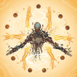 Zenyatta- 21 days of Overwatch! by ChasingArtwork