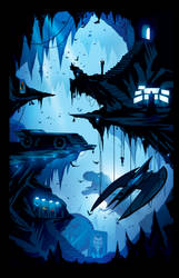 The Batcave by ChasingArtwork
