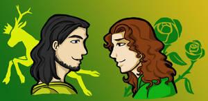 Renly and Loras by HKSherra
