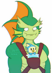 Rikuo Is Best Fish Dad by cherringo-sama