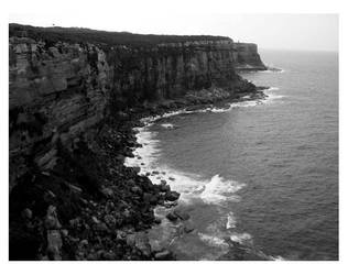 North Head Cliffside by dragonflytime