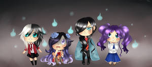 Le test de courage of the dead-Chibi version by Douce-Edel