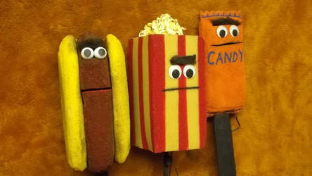 Chiller Drive-In Snack Puppet Props by IveyProductions
