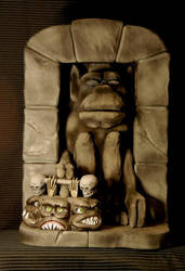 Wolfman Mac's Chiller Drive-in Gargoyle Puppet by IveyProductions