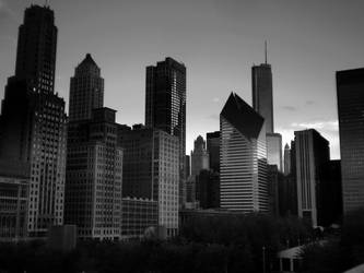 Downtown Chicago from Millennium Park by Rana-Rocks