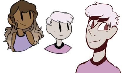 character doodles by hangmen