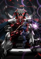 Mecha-Bison and Decapre-Jaeger by tommasorenieri
