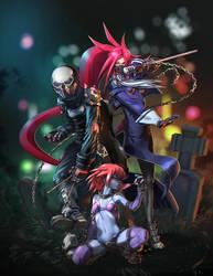 Bad Girls - Capcom Fighting Tribute by tommasorenieri