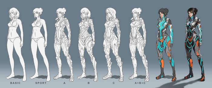 Step by step female suit by tommasorenieri