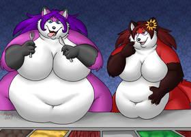 At the breakfast buffet :3 by bigdragonlady