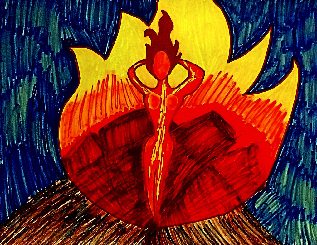 Inktober #13 Bonfire Baby by IamFailiusBLUscout