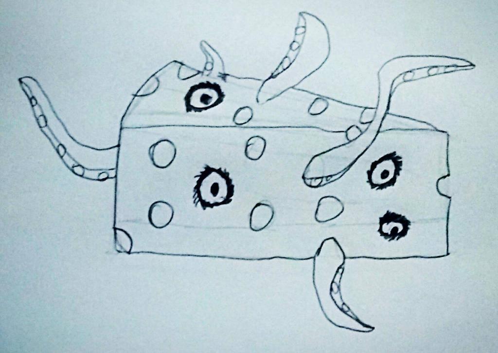 Inktober #22 Cheese by IamFailiusBLUscout