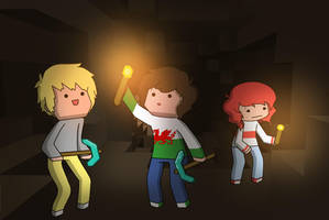 Minecraft: Cave Exploring by Ashley-Day