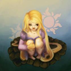Contemplative Rapunzel by HulloAlice