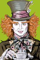 Johnny as the Mad Hatter by Artzychica