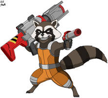 Rocket Raccoon by VGAfanatic