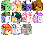 Milk Carton Icons - Batch 2 by Yukiin