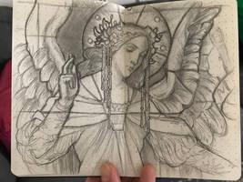 Sketchbook drawing by DianaVanDamme
