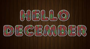Hello December by Textuts