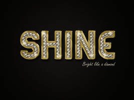 Shine Bright Like a Diamond by Textuts