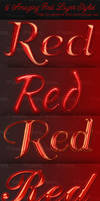 5 Amazing Red Layer Styles - Free Download by Textuts