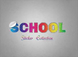 Vintage Sparkly Sticker by Textuts