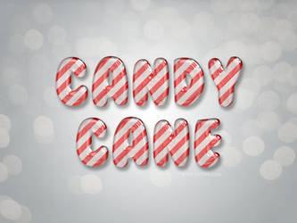 Free Glossy Candy Cane Text Effect by Textuts