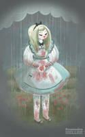 Alice Eats Raspberries by KassandraHeller
