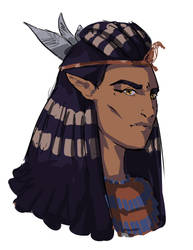 Shadowrun character concept by Senekha