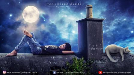 moon night  by jyotisworup-panda