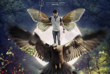 god of eagle by jyotisworup-panda