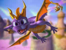 Spyro The Dragon 20th anniversary by BlakeFox